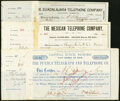 Stocks and Bonds, Miscellaneous - Stock and Bond Certificates - Telephone and Communications Collection Eight.. ... (Total: 3 items)