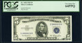 Small Size:Silver Certificates, Fr. 1655 $5 1953 Silver Certificate. PCGS Very Choice New 64PPQ.. ...