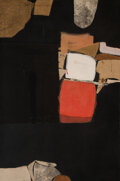 Paintings, Jack Massey (American, b. 1925). The Bumper, 1961. Collage on canvas. 60 x 41 inches (152.4 x 104.1 cm). Signed at verso...