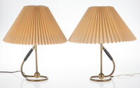 Kaare Klint (Danish, 1888-1954) Pair of Lamps Brass, paper 16 x 13 inches (40.6 x 33.0 cm) (each)  ... (Total: 4 Items)