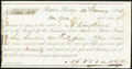 Baton Rouge, LA- Promissory Note $644.44 January 14 , 1862 Very Fine