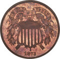 1873 2C Closed 3 PR64 Red and Brown ANACS....(PCGS# 3652)