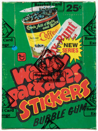 """1980 Topps """"Wacky Packages Stickers"""" Series 4 Wax Box With 36 Unopened Packs"""