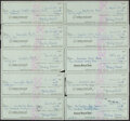 Autographs:Checks, 1979 Stan Musial Signed Checks, Lot of 10. Offered...