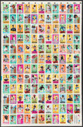 Baseball Cards:Other, 1992 Topps Kids Baseball Uncut Sheet With 132 Cards. ...
