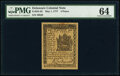 Colonial Notes:Delaware, Delaware May 1, 1777 4d PMG Choice Uncirculated 64.. ...