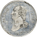 (c. 1870) TOKEN We All Have Our Hobbies, GW-237, 3rd Obverse, MS64 Prooflike NGC. White metal. Ex: Donald G. Partrick Co...