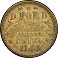 (1861-65) David Ford, Watchmaker, Civil War Store Card, Cairo, Illinois, Fuld-95B-1b, R.9, AU58 NGC. Ex: Donald G. Partr...