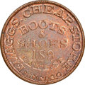 (1861-65) Flaggs Cheap Store, Boots & Shoes, Civil War Store Card, Chicago, Illinois, Fuld-150S-1a, R.3, MS65 Brown...
