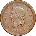 1863 A.J. Davis, Grocer, Civil War Store Card, Rockford, Illinois, Fuld-755A-1a, R.6 -- Cleaned -- NGC Details. Unc. Ex:...