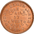 1861 Dodd's Elgin Dairy, Civil War Store Card, Chicago, Illinois, Fuld-150N-4a, R.6, MS65 Red and Brown NGC. Ex: Donald...