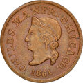 1861 W.G. Peck, Grocer, Civil War Store Card, Chicago, Illinois, Fuld-150AT-2a, R.7, MS63 Brown NGC. Ex: Donald G. Partr...