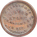 Civil War Merchants, 1863 F. Hamman, Liquor Store, Civil War Store Card, Detroit, Michigan, Fuld-225AI-1a, R.5 -- Cleaned -- NGC Details. AU.