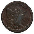 Half Cents, 1797 1/2 C Lettered Edge, Low Head, C-3b, B-3a, R.4 -- Altered Surfaces -- PCGS Genuine. VF Details. PCGS Population: (0/2 ...