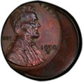 1950-D 1C Lincoln Cent -- Struck 25% Off Center -- MS62 Brown PCGS. From The Don Bonser Error Coin Collection Part III...