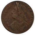 1787 CONNCT Connecticut Copper, Draped Bust Left, M. 33.7-r.4, W-3450, R.6, VF25 PCGS. PCGS Population: (1/0 and 0/0+)...