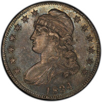 1834 50C Large Date, Small Letters, O-105, R.1, MS63 PCGS. Ex: Link. PCGS Population: (1/1 and 0/0+). NGC Census: (2/2 a...