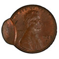 Errors, 1982-D 1C Lincoln Cent -- Double Struck, Second Strike Off Center -- MS62 Brown PCGS. . From The Don Bonser Error Coin ...