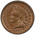 1862 1C Indian Cent -- 55° Clockwise Rotated Dies -- MS62 PCGS. From The Don Bonser Error Coin Collection Part III...