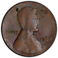 Errors, 1964 1C Lincoln Cent -- Struck on Split Planchet -- MS60 Brown PCGS. . From The Don Bonser Error Coin Collection Part I...