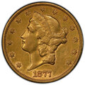 Liberty Double Eagles: , 1877-CC $20 -- Cleaning -- PCGS Genuine. XF Details. Mintage 42,565. ...