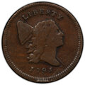 1795 1/2 C Lettered Edge, C-1, B-1, R.2, Fine 12 PCGS. PCGS Population: (2/13 and 0/1+). NGC Census: (1/13 and 0/0+). CD...