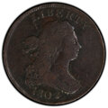 Half Cents: , 1802/0 1/2 C Reverse of 1802 VG8 PCGS. PCGS Population: (32/69 and 0/0+). NGC Census: (0/0 and 0/0+). CDN: $1,400 Whsle. Bi...