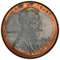 2005-D 1C Lincoln Cent -- Partial Plating -- MS65 Red and Brown PCGS. From The Don Bonser Error Coin Collection Part I...