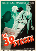 """Movie Posters:Hitchcock, The 39 Steps (Fribergs Filmbyra, 1936). Rolled, Very Fine/Near Mint. Swedish One Sheet (27.5"""" X 39.5"""").. ..."""