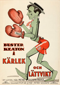 """Battling Butler (MGM, 1927). Rolled, Very Fine-. Swedish One Sheet (28"""" X 39.5"""")"""