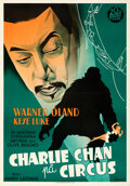 """Movie Posters:Mystery, Charlie Chan at the Circus (20th Century Fox, 1936). Folded, Very Fine+. Swedish One Sheet (27.5"""" X 39.5"""") Eric Rohman Artwo..."""