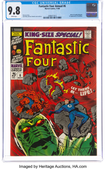 Fantastic Four Annual #6 (Marvel, 1968) CGC NM/MT 9.8 White pages....
