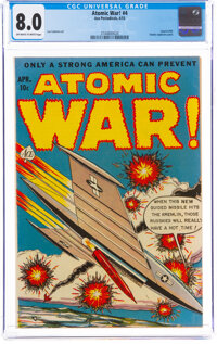 Atomic War! #4 (Ace, 1953) CGC VF 8.0 Off-white to white pages