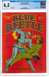 Blue Beetle #1 (Fox Features Syndicate, 1939) CGC FN+ 6.5 Off-white pages