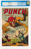 Golden Age (1938-1955):Superhero, Punch Comics #21 Big Apple Pedigree (Chesler, 1947) CGC VF/NM 9.0 Cream to off-white pages....