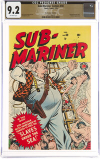 Sub-Mariner Comics #30 The Promise Collection Pedigree (Timely, 1949) CGC NM- 9.2 Off-white pages