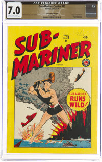 Sub-Mariner Comics #32 The Promise Collection Pedigree (Timely, 1949) CGC FN/VF 7.0 Off-white to white pages