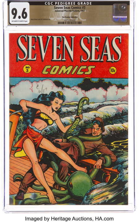 Seven Seas Comics #3 The Promise Collection Pedigree (Universal Phoenix Feature, 1947) CGC NM+ 9.6 Off-white to white pages....