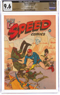Golden Age (1938-1955):Superhero, Speed Comics #39 The Promise Collection Pedigree (Harvey, 1945) CGC NM+ 9.6 Off-white to white pages....