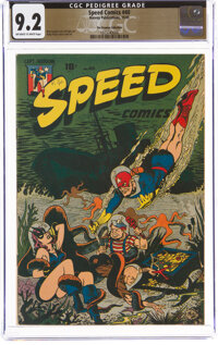 Speed Comics #40 The Promise Collection Pedigree (Harvey, 1945) CGC NM- 9.2 Off-white to white pages