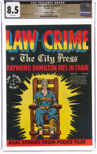 Law Against Crime #1 The Promise Collection Pedigree (Essenkay Publishing, 1948) CGC VF+ 8.5 White pages