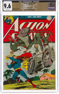 Action Comics #76 The Promise Collection Pedigree (DC, 1944) CGC NM+ 9.6 White pages