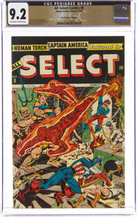 All Select Comics #8 The Promise Collection Pedigree (Timely, 1945) CGC NM- 9.2 Off-white to white pages