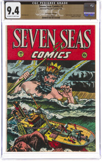 Seven Seas Comics #1 The Promise Collection Pedigree (Universal Phoenix Feature, 1946) CGC NM 9.4 Off-white to white pag...