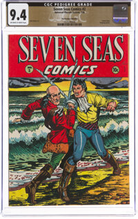 Seven Seas Comics #2 The Promise Collection Pedigree (Universal Phoenix Feature, 1946) CGC NM 9.4 Off-white to white pag...