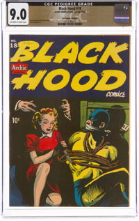 Black Hood #18 The Promise Collection Pedigree (Archie, 1946) CGC VF/NM 9.0 Off-white to white pages
