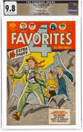 Golden Age (1938-1955):Superhero, Four Favorites #28 The Promise Collection Pedigree (Ace, 1947) CGC NM/MT 9.8 Off-white to white pages....