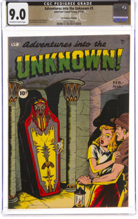 Adventures Into The Unknown #3 The Promise Collection Pedigree (ACG, 1949) CGC VF/NM 9.0 Off-white to white pages
