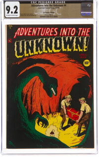 Adventures Into The Unknown #4 The Promise Collection Pedigree (ACG, 1949) CGC NM- 9.2 Off-white to white pages