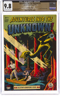 Adventures Into The Unknown #5 The Promise Collection Pedigree (ACG, 1949) CGC NM/MT 9.8 Off-white to white pages